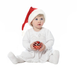 Cute baby in Santa's hat