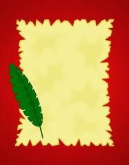 carta piuma verde