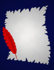 carta piuma rossa