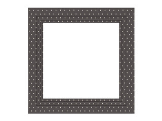 vintage empty picture frame isolated
