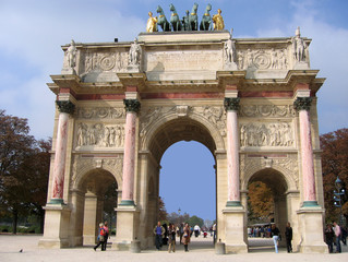 Wall Murals Algeria Paris l'Arc de Triomphe du Carrousel
