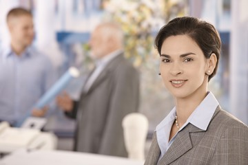 Office portrait of mid adult businesswoman