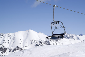 Chair-lift, close-up