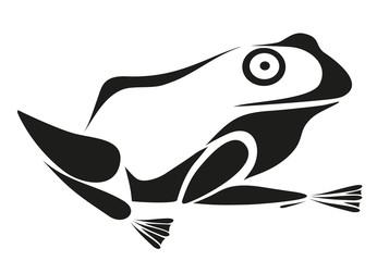 vector tattoo - frog