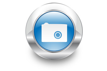 Metal Bubble button icon Camera
