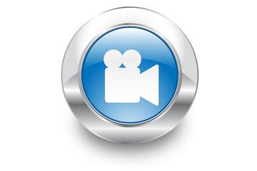 Metal Bubble button icon Video