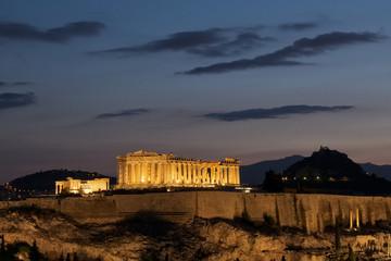 Parthenon Athens at dawn