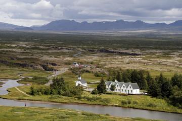 Thinvellir National Park landscape in Iceland