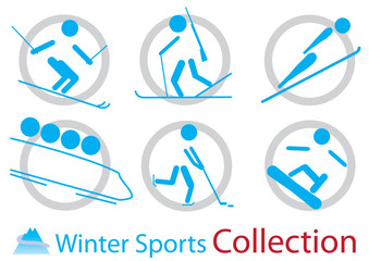 Winter sports icons collection