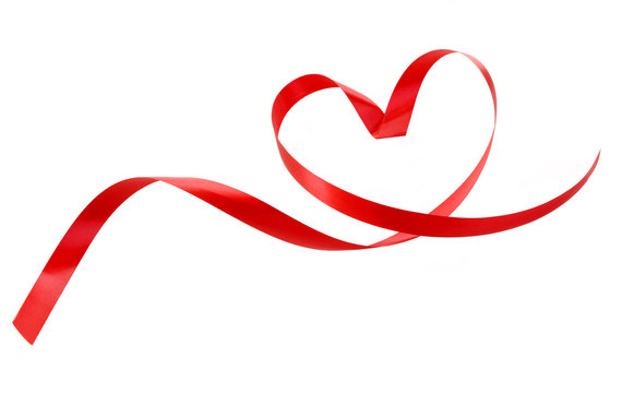 Heart a red tape