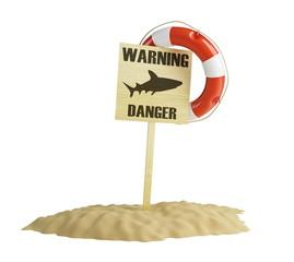 warning shark