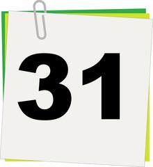 Calendario, Giorno 31