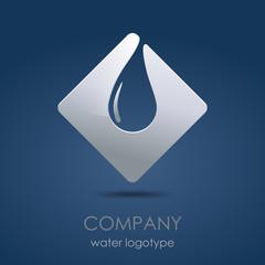 Logo water drop in blue # vector