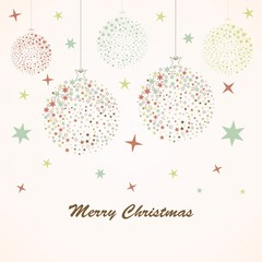 Retro card with Christmas ball
