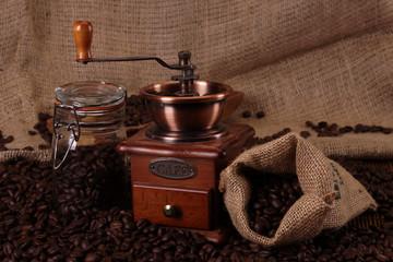 Fotobehang Koffiebonen Hot coffee and chocolate!