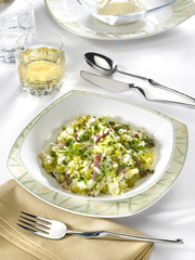 risotto au chou et pois secs - risotto with savoy cabbages