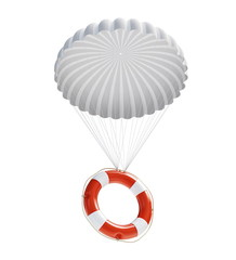 Life Buoy at parachute
