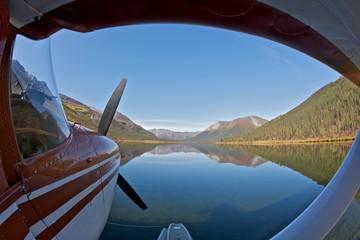 Seaplane Parked on a Lake
