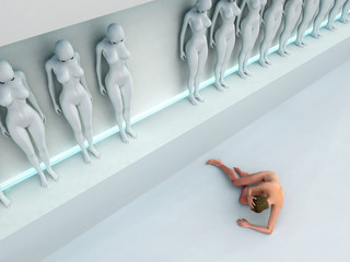 woman escape from human cloning factory