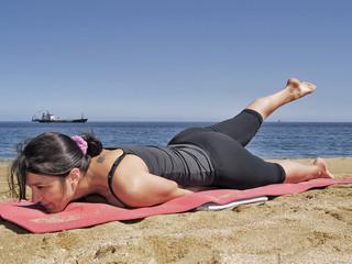 Bikram yoga salabhasana pose