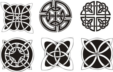 Six miscellaneous celtic knot dingbat designs