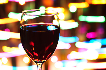 Wine and Defocused Lights