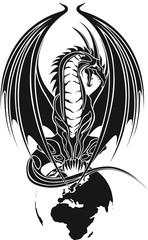 Drachen/Tribal/Symbol/Weltkugel