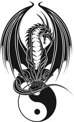 Drachen/Tribal/Symbol/Ying und Yang