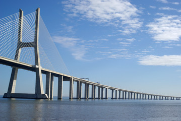 Canvas Prints Bridge Vasco da Gama bridge in Lisbon, Portugal