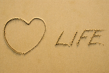 Love life - written on the beach