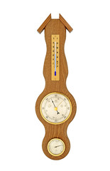 Barometer and thermometer
