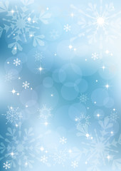 Winter background with snowflakes. EPS10.