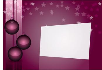 vectorel Christmas balls, stars and pine tree