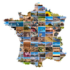 Mosaïque de photos carte de France