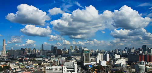 Cloud over city of Bangkok, Thailand
