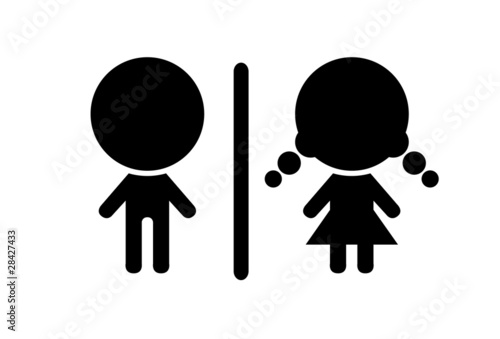 Toilet symbol  vector illustration. Toilet symbol  vector illustration  Stock image and royalty free