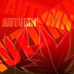Vector elegant autumn illustration