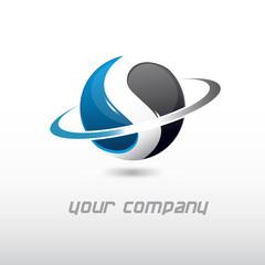 logo entreprise, logo sphère