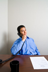 Young Man on Phone Call