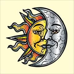 sole luna oro argento