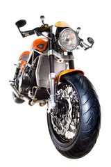 Motorcycle isolated front view