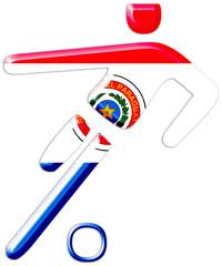fußball paraguay fussballspieler symbol