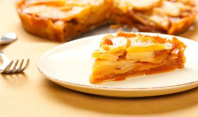 Caramel Apple Tart Slice