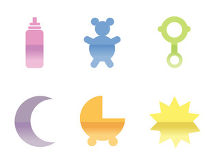 Illustrations of different baby icons