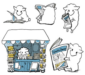 newspaper-sheep