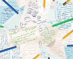 papier gekritzel öko
