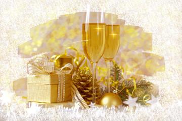 Foto auf Gartenposter Alkohol sylvesterparty,neuesjahr