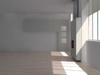 Interno vuoto con finestre