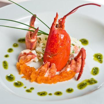 homard dressé