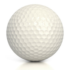 golf ball isolated over white background